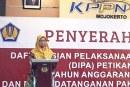 KPU Kota Mojokerto Hadiri Penyerahan DIPA Di KPPN Mojokerto