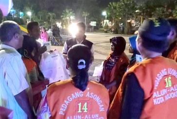 Sosialisasi Pemilu 2019 Ke Pedagang Asongan Alun-alun Kota Mojokerto