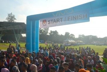 Ribuan Peserta Ikuti Pemilu Run KPU Kota Mojokerto