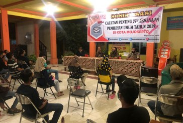Sosialisasikan Catatan Penting Pemilu 2019 Di Kota Mojokerto Kepada Karang Taruna Kelurahan Pulorejo