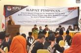 KPU Provinsi Jatim Selenggarakan Rapim Di Pasuruan
