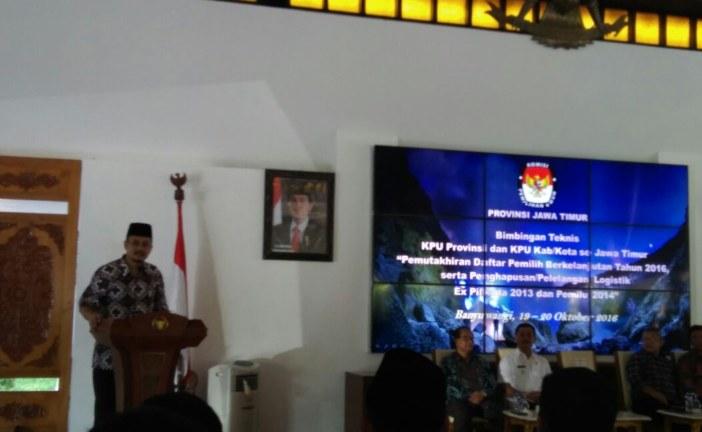 Ferry, Tiga Poin Penting dalam Kegiatan Bimtek KPU Provinsi dan Kabupaten/Kota se-Jatim