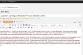 Pengiriman Laporan Suntingan Website Periode Oktober 2016