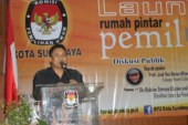 Divisi Teknis KPU Kota Mojokerto Hadiri Launching RPP Bung Tomo KPU Surabaya
