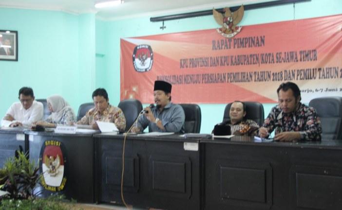 Optimalisasi RPP, KPU Sampaikan Laporan Pembentukan RPP Naditira Wilwatikta Dalam Rapim