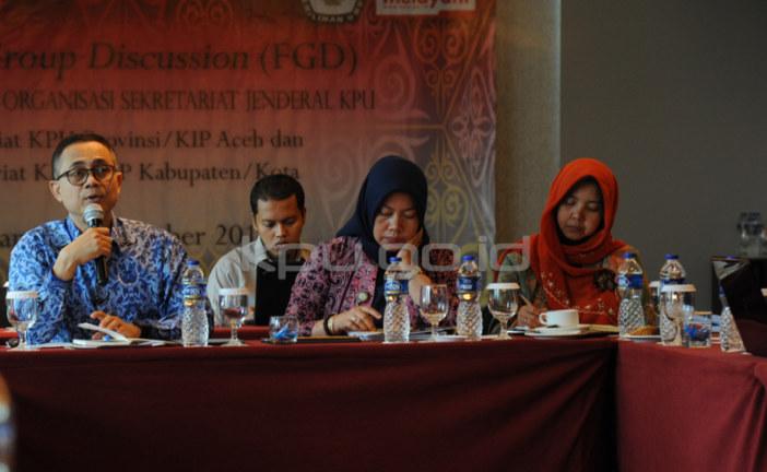 KPU Gelar FGD Penyesuaian Kelembagaan KPU dengan UU Pemilu