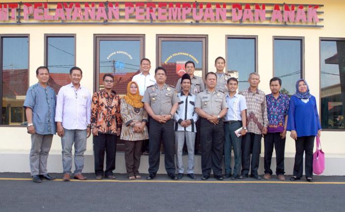 Rapat Koordinasi Polres Mojokerto Kota bersama dengan KPU dan Panwaslu Kota Mojokerto dalam Rangka Menghadapi Pilkada Serentak Tahun 2018