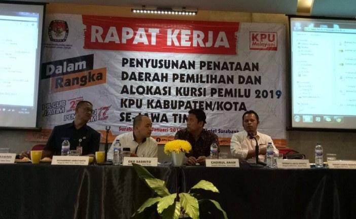 KPU Kota Mojokerto Hadiri Rapat Kerja Penyusunan Dan Penetapan Dapil Pemilu Tahun 2019
