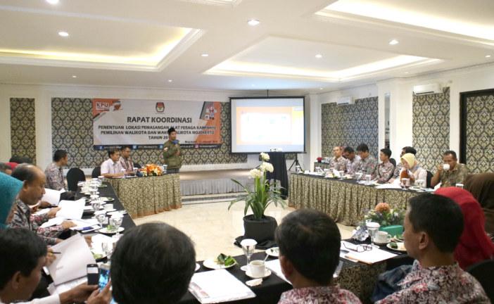 KPU Kota Mojokerto Gelar Rapat Koordinasi Penentuan Lokasi Alat Peraga Kampanye Pemilukada Kota Mojokerto Dan Pilgub Tahun 2018