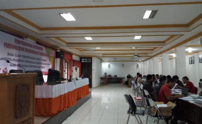Penyerahan Perbaikan Syarat Dukungan Perseorangan dan Verifikasi DPD Oleh KPU Jatim