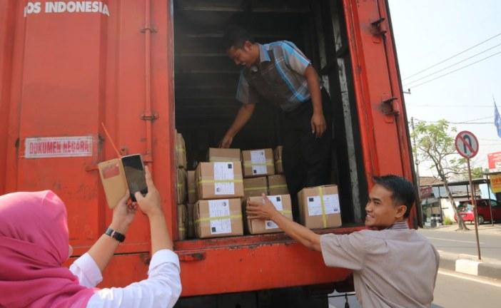 Logistik Surat Suara Pilgub Sudah Diterima KPU Kota Mojokerto