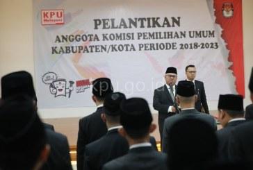 Lantik 165 Anggota KPU Kab/Kota,