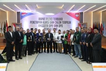 KPU RI Tetapkan Perolehan Kursi Parpol dan Calon Terpilih DPR-DPD 2019-2024