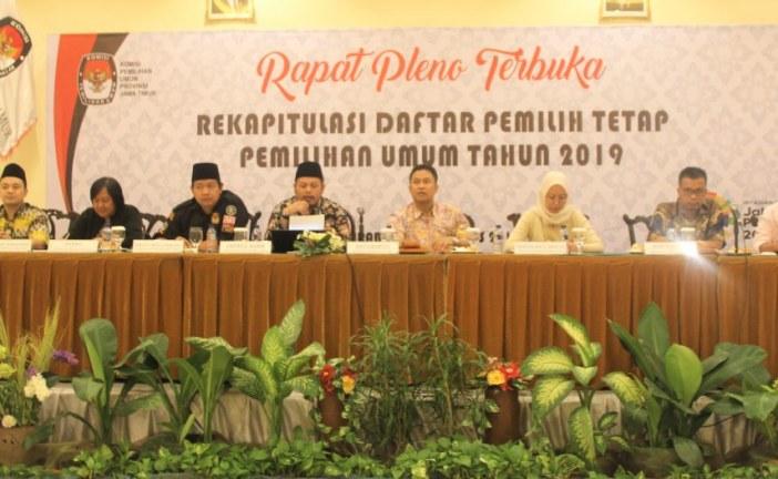 RAPAT PLENO TERBUKA, KPU JATIM REKAPITULASI DPT PEMILU 2019