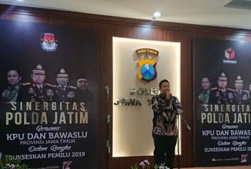 H-83 JELANG PEMUNGUTAN SUARA PEMILU 2019, POLDA; KPU; BAWASLU JATIM LAKUKAN SINERGITAS