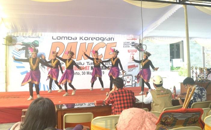 5 Team Unjuk Kebolehan Dalam Lomba Koreografi Dance Jingle Pemilu KPU Kota Mojokerto