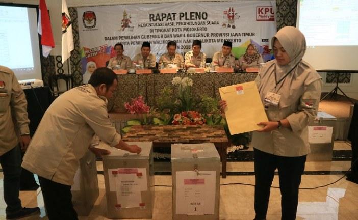 KPU Kota Mojokerto Laksanakan Rapat Pleno Rekapitulasi Penghitungan Suara