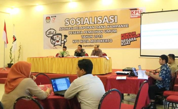 KPU Kota Mojokerto Gelar Sosialisasi Aplikasi Pelaporan Dana Kampanye