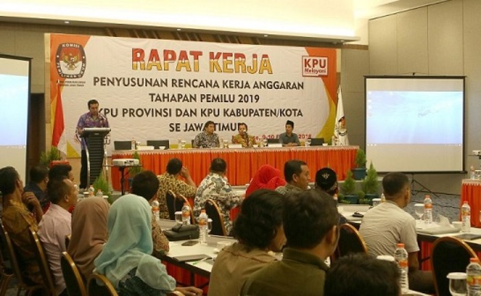 KPU Provinsi Jawa Timur Gelar Rapat Kerja Penyusunan Rencana Kerja Anggaran Tahapan Pemilu 2019