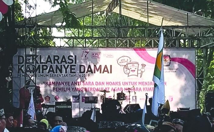 KPU Kota Mojokerto Hadiri Deklarasi Pemilu Damai KPU Jatim
