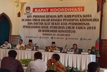 KPU Kota Mojokerto Hadiri Rakor KPU Jatim di Hotel Majapahit