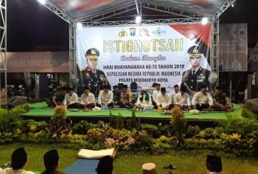 KPU Kota Mojokerto Hadiri Istighosah HUT Bhayangkara Ke-73