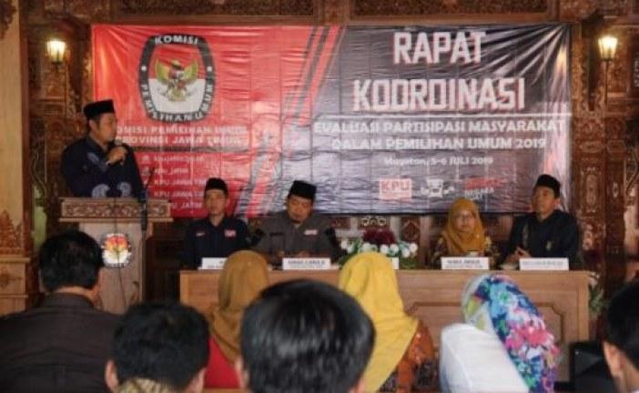 KPU Mojokerto hadiri Rakor Evaluasi Parmas KPU Jatim di Magetan