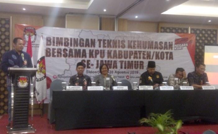 KPU Kota Mojokerto Ikuti Bimtek Kehumasan di Sidoarjo
