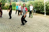 Volly Warnai Jum'at Sehat KPU Kota Mojokerto
