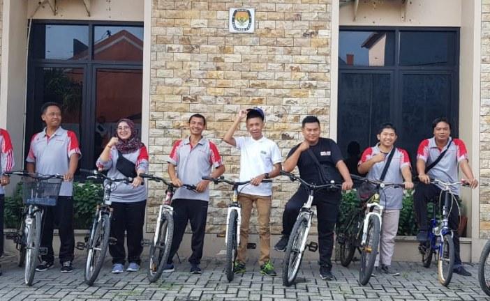 Gowes Sehat Warnai Jumat Pagi Di KPU Kota Mojokerto