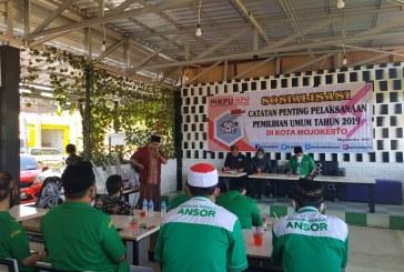 Antusiasme Gerakan Pemuda Ansor Dalam Sosialisasi KPU Kota Mojokerto