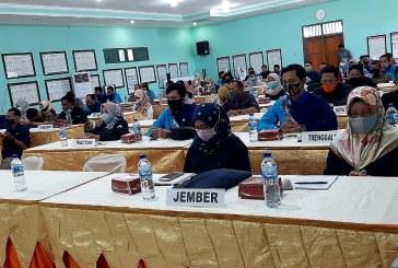 KPU Kabupaten/Kota se-Jawa Timur Lakukan Simulasi Pengelolaan JDIH