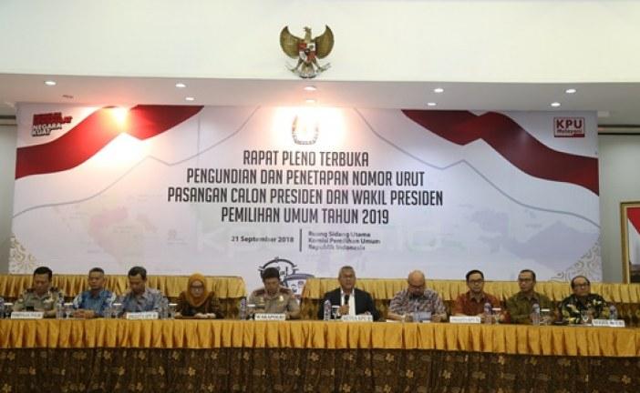 Jokowi-Ma'ruf, Prabowo-Sandi Resmi Peserta Pemilu 2019