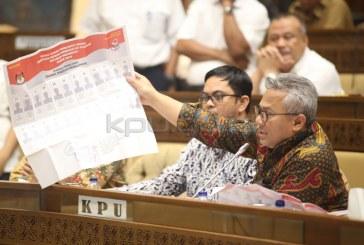 Di RDP, KPU Paparkan Rancangan Desain Surat Suara Pemilu 2019