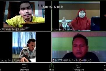 Pengelola keuangan KPU Kota Mojokerto Ikuti Vicon Terkait Implementasi eSPM KPPN Mojokerto