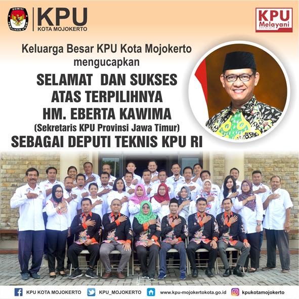 Ucapan Selamat Untuk Sekretaris KPU Jatim
