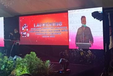 Patuhi Protokol Kesehatan, Tetap Hadiri Undangan Launching Pemilihan Serentak 2020 KPU Kabupaten Lamongan