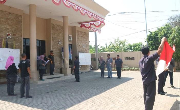 Menjelang Peringatan Hari Pahlawan KPU Kota Mojokerto Adakan Latihan Upacara