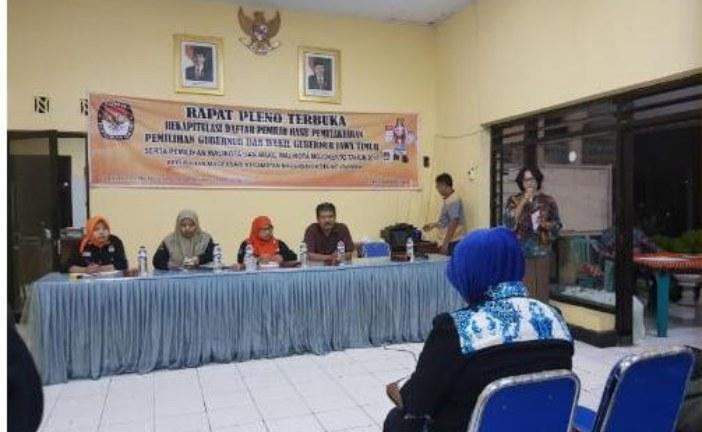 KPU Kota Mojokerto Monitoring Rekapitulasi DPHP Kelurahan, Giliran Kelurahan Magersari Dan Gunung Gedangan
