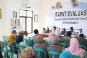 KPU Kota mojokerto Gelar Rapat Evaluasi Penyusunan Daftar Pemilih Pemilu 2019