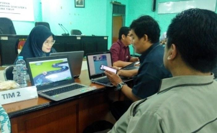 KPU Kota Mojokerto menghadiri Raker Review Laporan Keuangan Semester I