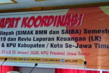 KPU Kota Mojokerto Hadiri Rakor Rekonsiliasi Wilayah dan Review Keuangan