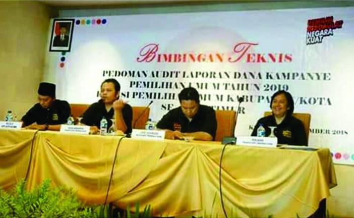 KPU Kota Mojokerto Hadiri Bimtek Pedoman Audit Laporan Dana Kampanye