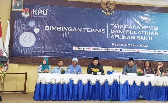 KPU Kota Mojokerto Hadiri Bimtek SAKTI