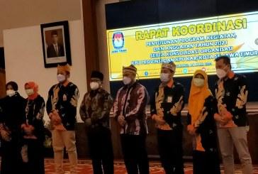 Persiapan Anggaran Pemilu 2024, KPU Kota Mojokerto Hadiri Rapat Koordinasi dan Konsolidasi Organisasi KPU se-Jatim