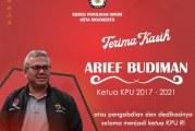 KPU Kota Mojokerto Mengucapkan Terima Kasih Kepada Arief Budiman Sebagai Ketua KPU RI Periode 2017 – 2021