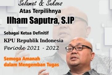 KPU Kota Mojokerto Mengucapkan Selamat Atas Terpilihnya Ilham Saputra Sebagai Ketua KPU RI Definitif Periode 2021 – 2022
