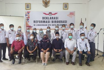 Deklarasi Reformasi Birokrasi Dan Pencanangan Zona Integritas Di Lingkungan KPU Kota Mojokerto