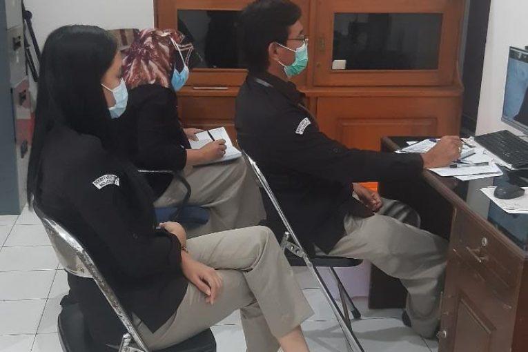 KPU Kota Mojokerto Ikuti Secara Virtual Rapat Kegiatan Pemutakhiran Data Pegawai Di Lingkungan Sekretariat KPU