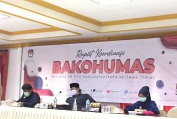 Untuk Optimalisasi Website dan Media Sosial, KPU Kota Mojokerto Hadiri Rakor Pembentukan BAKOHUMAS KPU Se-Jawa Timur